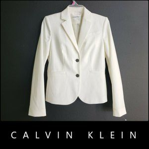 Calvin Klein Women Blazer Suit Size 2 White